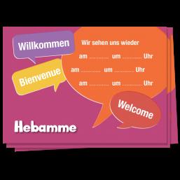 """Terminzettel """"Willkommen"""""""