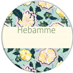 "Hebammenbutton ""Blume"""