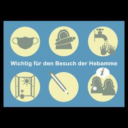 """Postkarte """"Hebammenbesuch in Coronazeiten"""""""